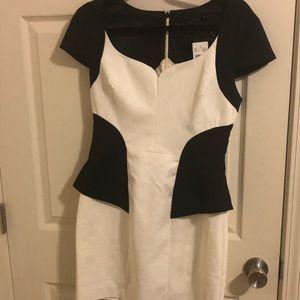 Black halo peplum dress